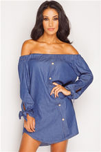 Fashion Dress Women Irregular Denim Dresses Long Sleeve Shirt Dress Casual Loose Office Jean Dresses Vestidos LJ1286C