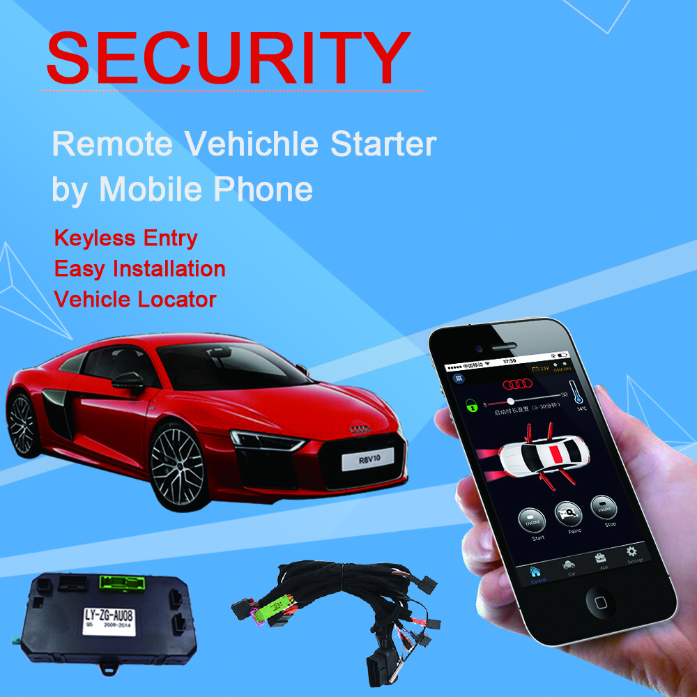 Security Remote Starter Kit For Audi Keyless Go Vehicle Locator No Range Limitation Work With