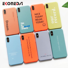 EKONEDA Candy Colors Funny Words Case For iPhone