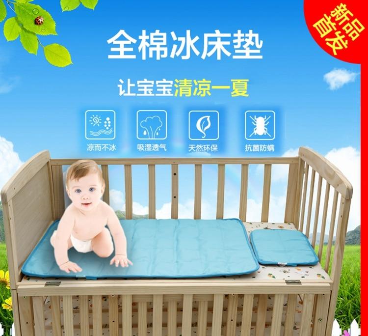 Summer New Cotton Baby Mattress Pillow Sets Cotton Ice Infant Bedding Baby Cool Matress цены