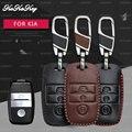 KUKAKEY Remote Smart Auto Schlüssel Fall Für Kia Rio Sportage Ceed Corento Cerato K2 K3 K4 K5 Sorento Leder Keychain schlüssel Halter Abdeckung