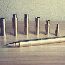 EDC – stylo à bille tactique en Laiton, outil de défense d'extérieur en acier inoxydable, stylo multifonction Durable de haute qualité