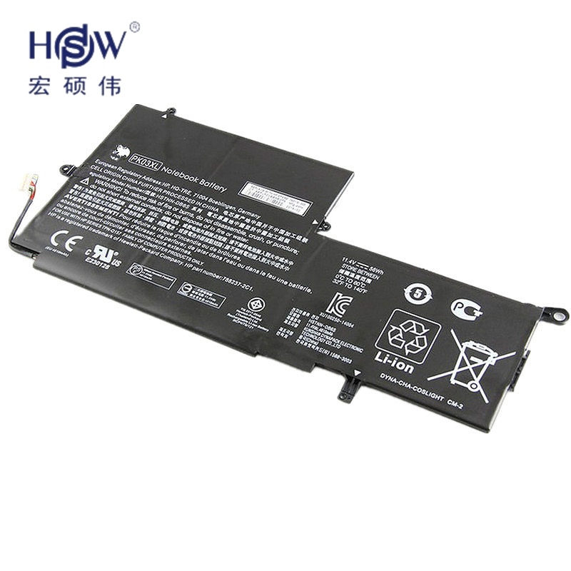 HSW New 11.1v 56wh Battery for HP Spectre Pro X360 Spectre 13 PK03XL HSTNN-DB6S 6789116-005 batteria akku ультрабук трансформер hp spectre x360 13 ae012ur 2vz72ea 2vz72ea
