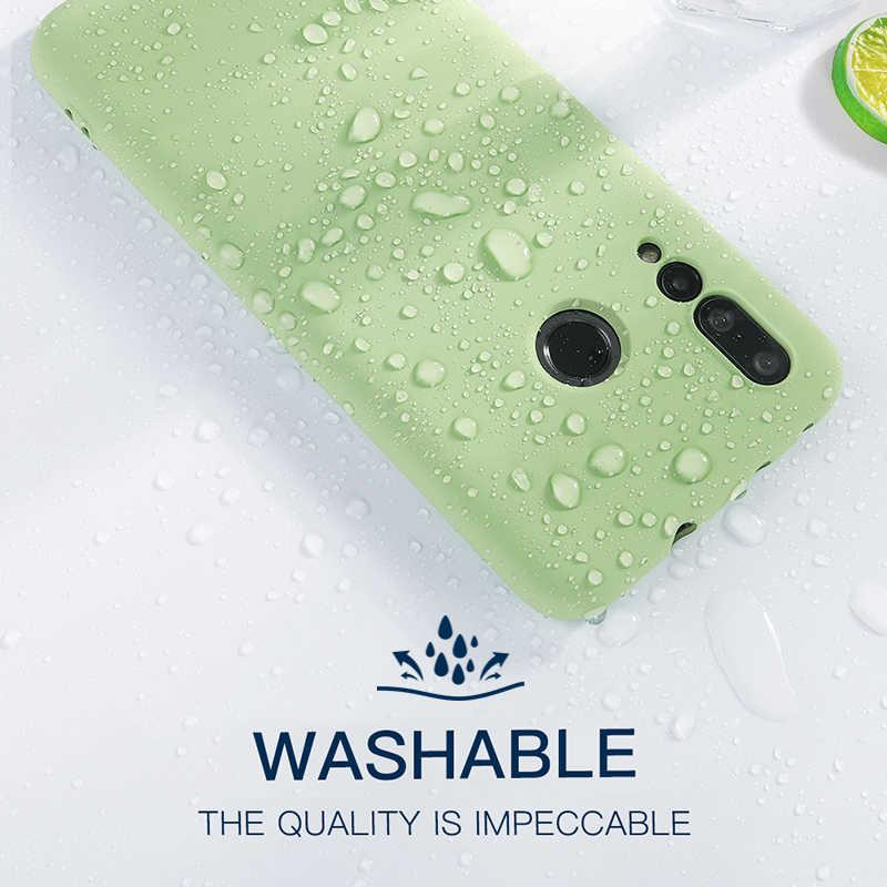 Жидкий Силикон Оригинальный чехол для Huawei Honor 8 9 10 Lite 8A 8X вид 20 V10 V20 V9 играть охватывает Nova 3i 3 4 3e 4e 2S Чехол P30 V