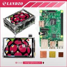 Raspberry Pi 3 Модель B доска + 3.5 TFT Малина Pi3 сенсорный ЖК-экран + акриловый чехол + тепло раковины для Raspbery Pi 3 комплекта