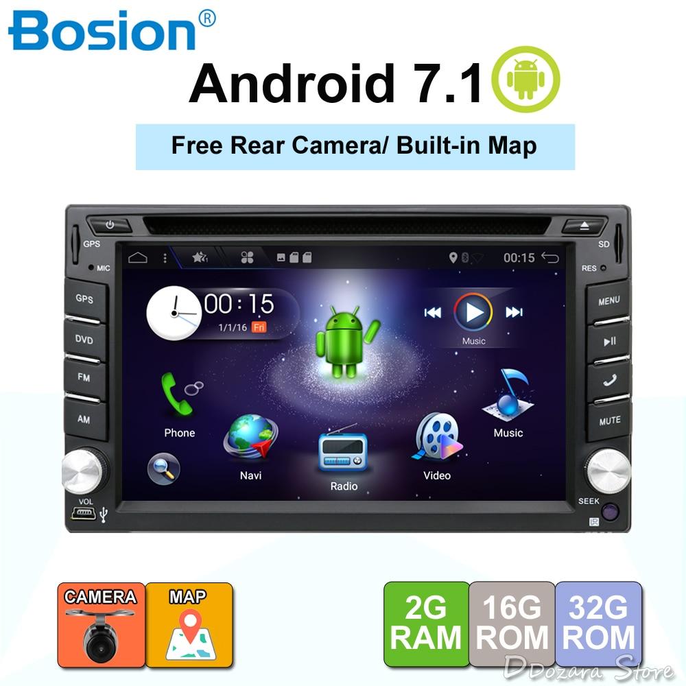 Quad Core 2 Din Android 7.1 Fit pour NISSAN QASHQAI Tiida Voiture Audio Stéréo Radio GPS TV 3g WiFi dvd automotivo Universel RAM 2g