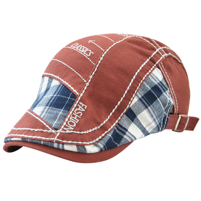 JAMONT Hat Beret-Caps Herringbone Summer Brim-Hats Adjustable Flat Womens Sun Outdoor