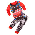 Pajama for boy girl children's pajamas kids pajama sets spring autumn cartoon car 2 piece set for 2-7 year costume clothes