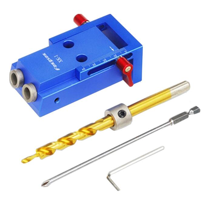 2017 New Mini Kreg Style Pocket Hole Jig Kit System For Wood Working & Joinery + Step Drill Bit & Accessories Wood Work Tool Set autotoolhome pocket hole jig system ph2 screwdriver bit 9 5mm step drill guide for kreg wood doweling joinery tools accessories