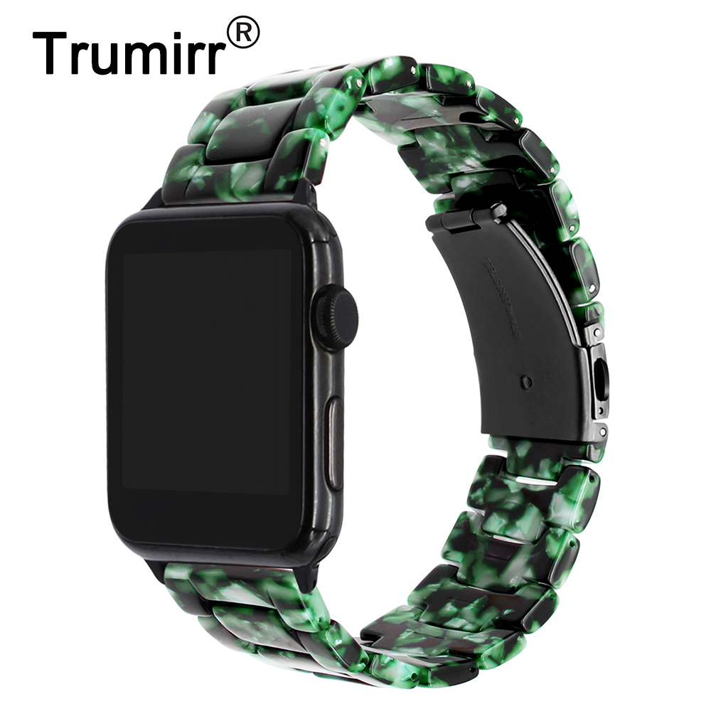 TRUMiRR 2018 Resin Watchband for iWatch Apple Watch 38mm 42mm Series 3 2 1 Wrist Band Stainless Steel Buckle Strap Link Bracelet 6 channel digital hearing aid invisible feie digital hearing aids headphone amplifier s 16a drop shipping