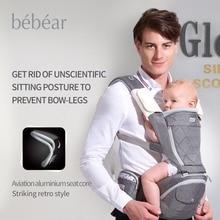 Bebear new hipseat for prevent o-type legs aviation aluminum core Ergonomic baby carriers manduca backpacks kid sling