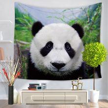 Panda lindo tapiz tapiz tapices colcha de boho playa toalla yoga mat manta paño de tabla 200*150/150*130