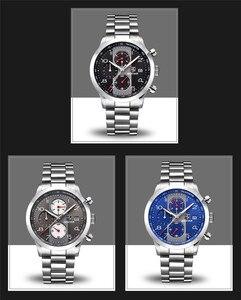 Image 5 - BENYAR גברים שעונים למעלה מותג יוקרה הכרונוגרף עמיד למים צבאי זכר שעון מלא פלדה ספורט שעוני יד relogio masculino 5133