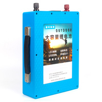 12v 50ah Portable LiFePo4 Battery Lithium iron phosphate battery pack with USB BMS Board + EU/US 14.6V 5A charger