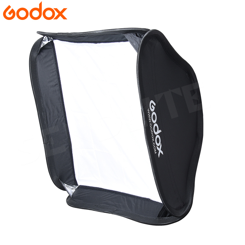 Godox 60*60cm Softbox Flash Diffuser Photo Video Studio Soft Box For Speedlight Flash Light Without S-type Bracket Bowens Holder