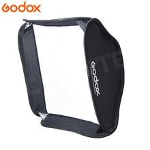 Godox 60*60cm Softbox Flash dyfuzor Studio fotograficzne wideo miękkie pudełko do lampy błyskowej latarka bez wspornika typu S uchwyt Bowens