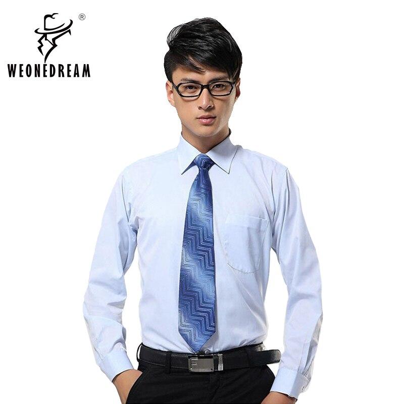 364f8f82bc99f Weonedream más tamaño hombres sarga camisa vestido primavera y otoño XS 7XL  delgada de manga larga negocios ocio Oficina camisa masculina novio en  Camisas ...