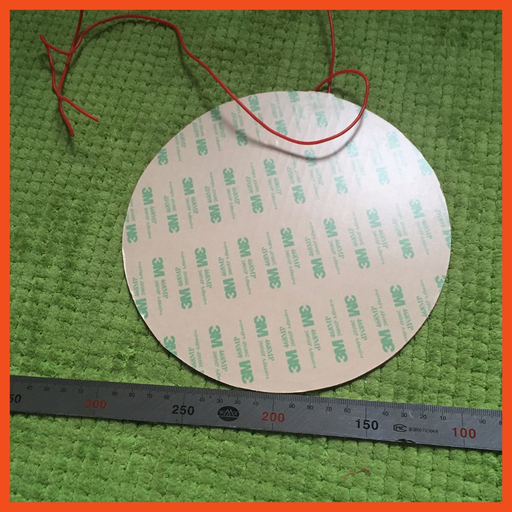 Silicone heating pad heater 220V 350W 380mm for 3d printer circular heat bed 3d printer silicone heater pad electric heater cow spots decorative stair stickers