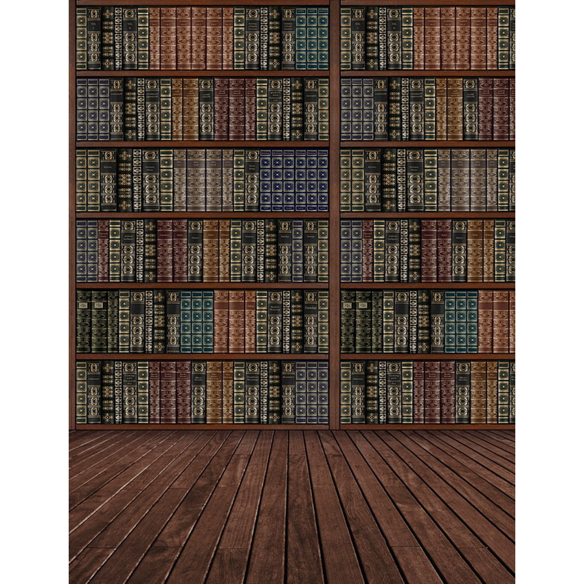 12 ft vinyl cloth print 3D library books photo studio backgrounds for school portrait photography backdrops props S 2390