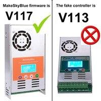 MPPT Solar Charge Controller 30A 40A 50A 60A Version V117 LCD Display for 12V 24V 36V 48V DC Acid and Lithium Battery
