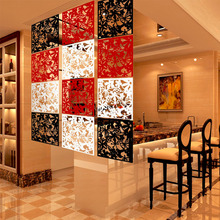 4Pcs 40x40cm Hanging Screens Living Room Divider Panels Partition Wall Art DIY Home Decoration White Wood-Plastic Board