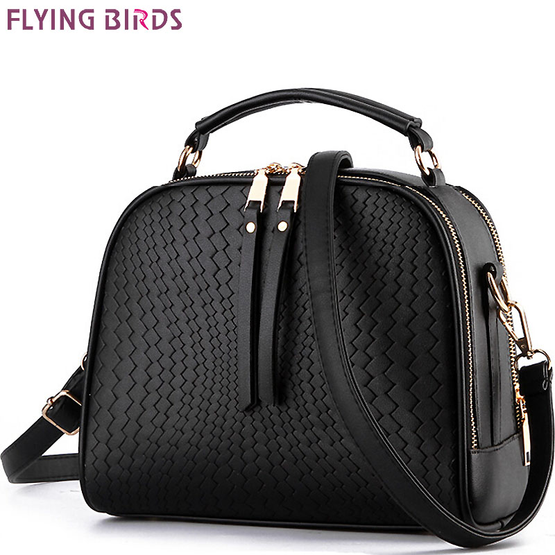 FLYING BIRDS! women leather handbag brand women bags messenger bags shoulder bag leather handbags women's pouch bolsas LS4674fb women genuine leather handbag brown ladies shoulder bags high quallity female tote purses handbags designer brand bolsa feminina