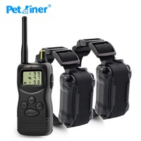 Petrainer 900 2 1000m remote control dog/pet training collar with LCD display & multi dog training system
