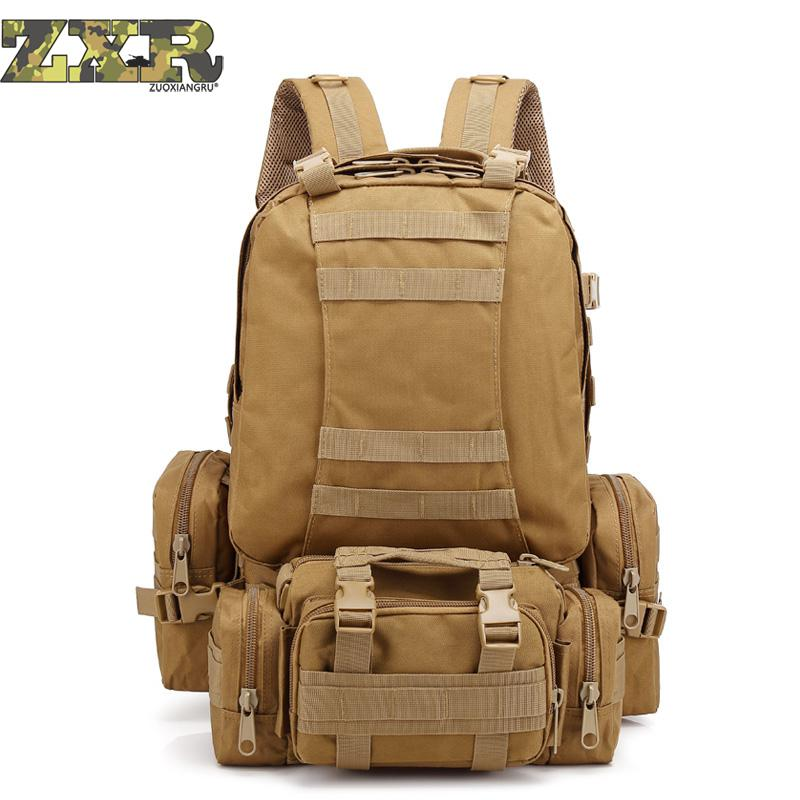Casual Stylish Large Capacitymen Military Backpack Multi function Waterproof Pack Travel Backpack Gear Luxury Nylon Travel Bags