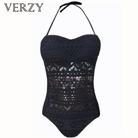 VERZY new hot sexy one pieces hollow solid swimsuit women bodysuit large size monokini maillot de bain tight summer beachwear