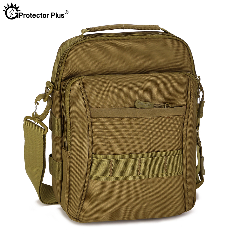 PROTECTOR PLUS Tactical Crossbody Bag Men's Handbag Waterproof Outdoor Sport Shoulder Messenger Riding Small Bag Travel Hunting