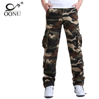 YOLAO Brand Quality Men's Cargo joggers Pants Military for Men multi pocket Overalls tactical Army Trousers Camouflage fashion