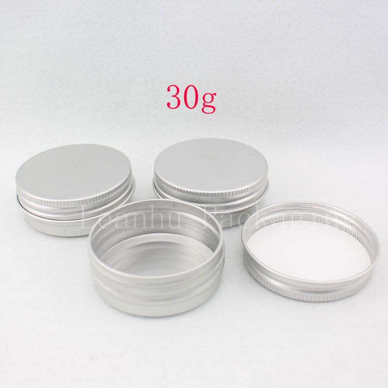 30g Empty Cosmetic Aluminum Jar Screw Cap 1OZ Metal Container For Skin Care Cream Bottle Ointment
