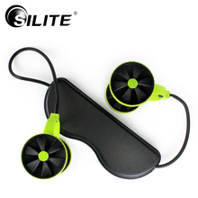 SILITE Abdominal AB Roller Fitness Equipment Power Wheel Pull Rope Resistance Band Crossfit Gym Muscle Training Home Trainer