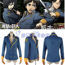 Attack on Titan: The Wings of Counterattack Levi Eren Cospaly Costume Jacket Coat with Arm Badge Custom Size