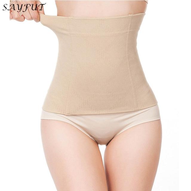 58fd8633d76 Womens No Closure Waist Trainer Corset Cincher Boned Seamless Tummy Control  Belt Shapewear Slimmimg Workout Body Shaper