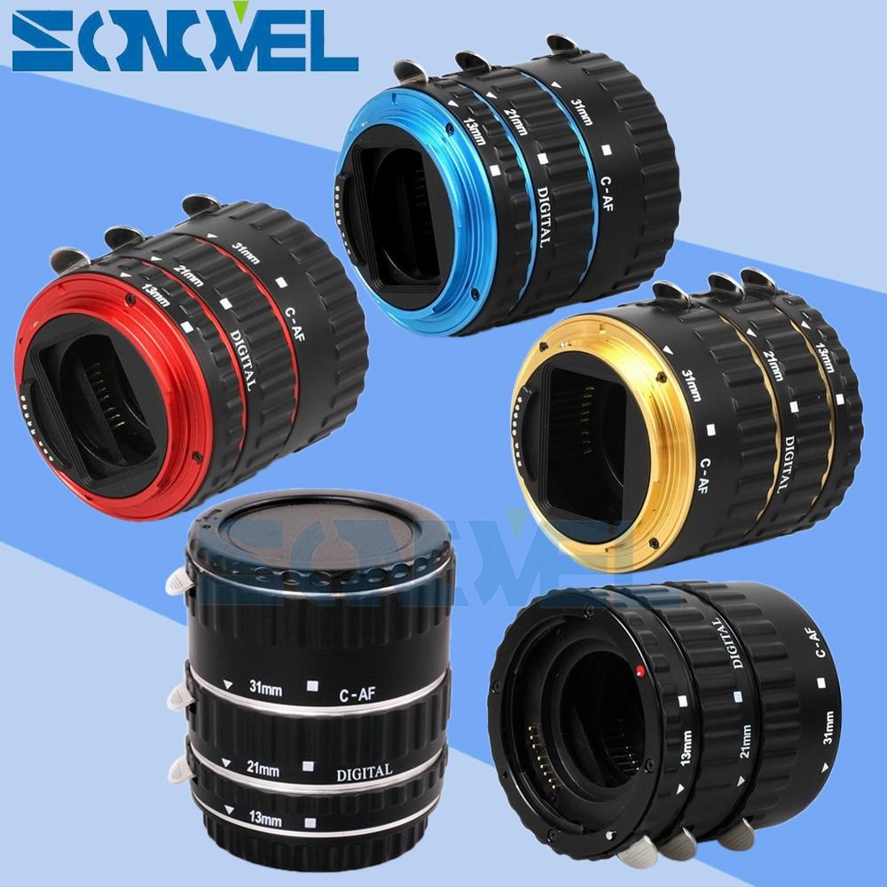 En Stock Métal TTL Autofocus AF Macro Extension Tube anneau Objectif Bague D'adaptation pour Canon EOS EF EF-S Tous Les lentilles