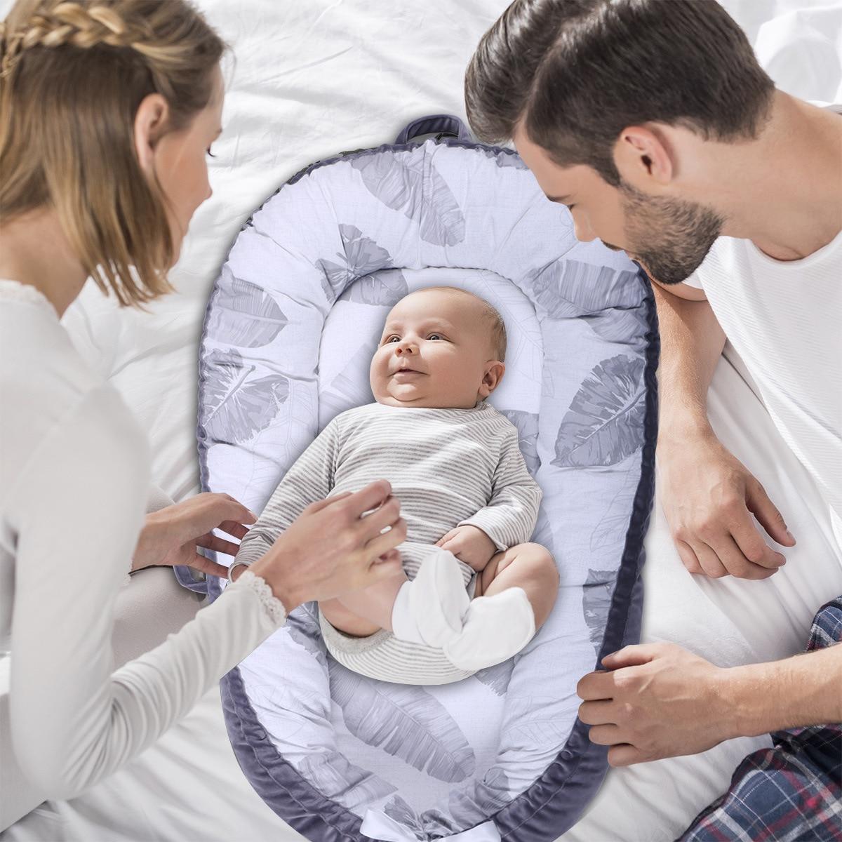 80*50 cm lit de berceau doux bébé nid Portable lavable co-couchage lit berceau Co dormeur nacelle 0-24 M couffin bébé berceau