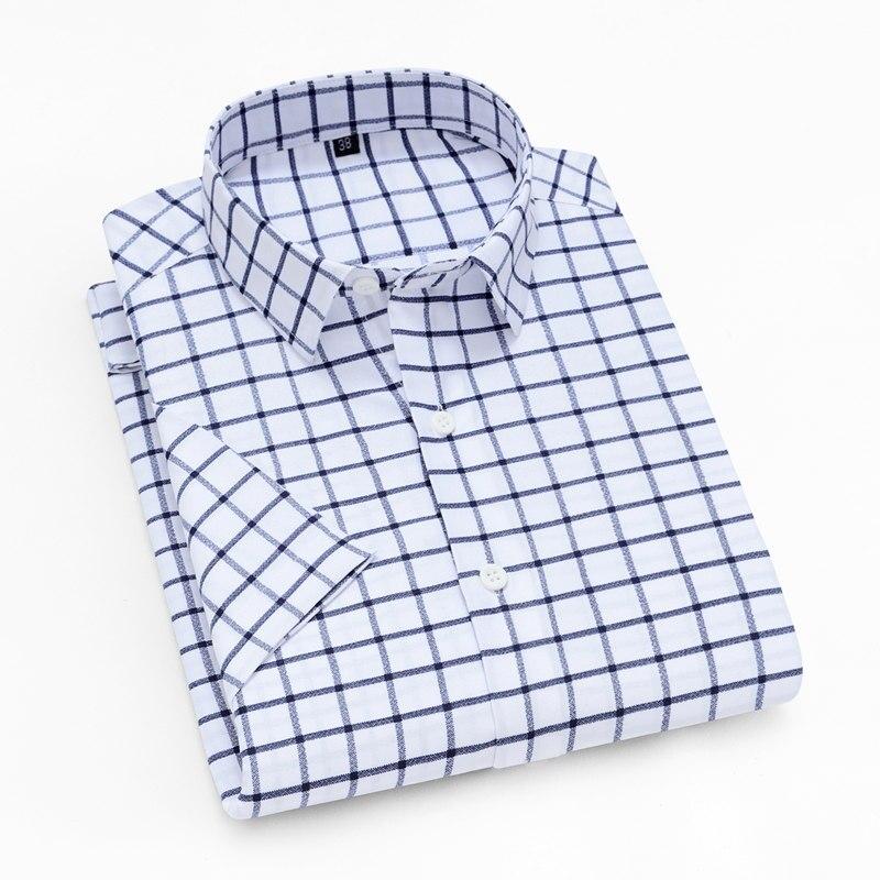 Мужская рубашка в полоску Unisplendor, мягкая дышащая Повседневная рубашка с коротким рукавом для мальчиков на лето, yn104 75