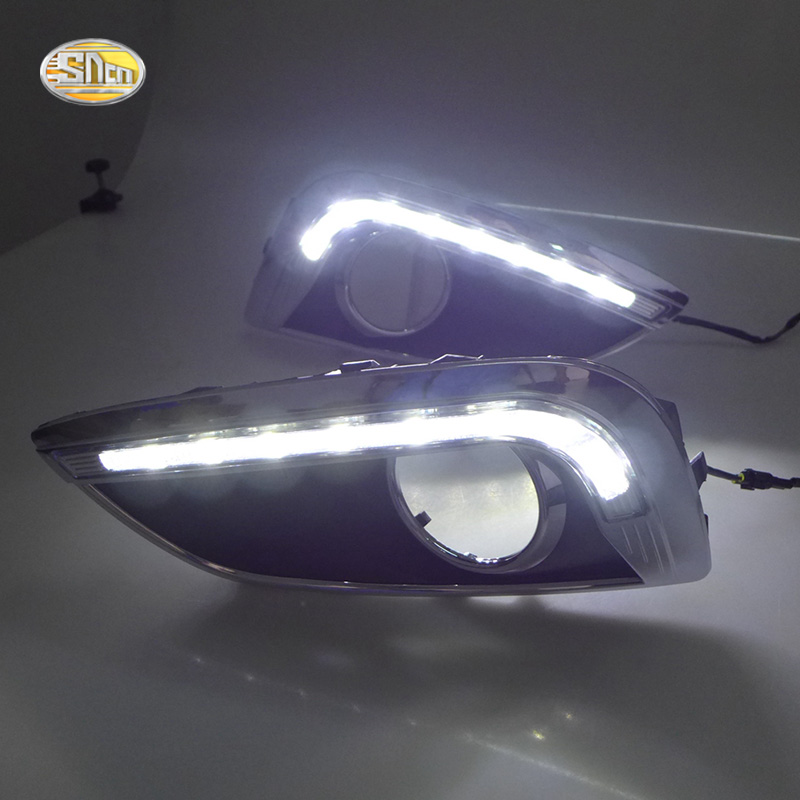 For Hyundai IX35 2010 2011 2012 2013 LED Daytime Running Lights Fog Lamp Cover Driving Light DRL 2pcs set With Controller Box in Car Light Assembly from Automobiles Motorcycles