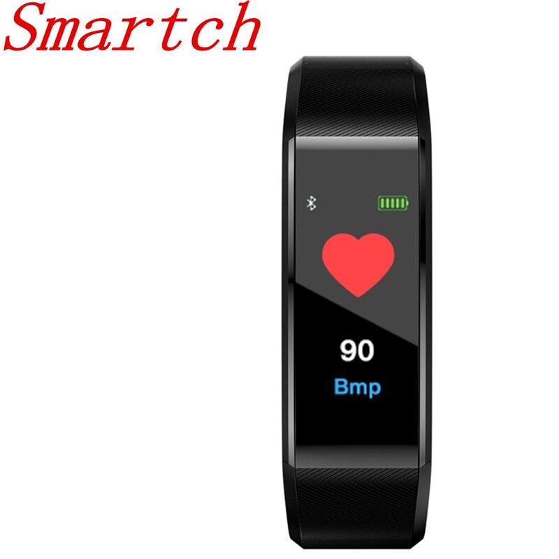 Smartch ID115 HR Plus Smart Bracelet Sport Mode Fitness Tracker Wrist Heart Rate Monitor Route PK Xiao mi mi band