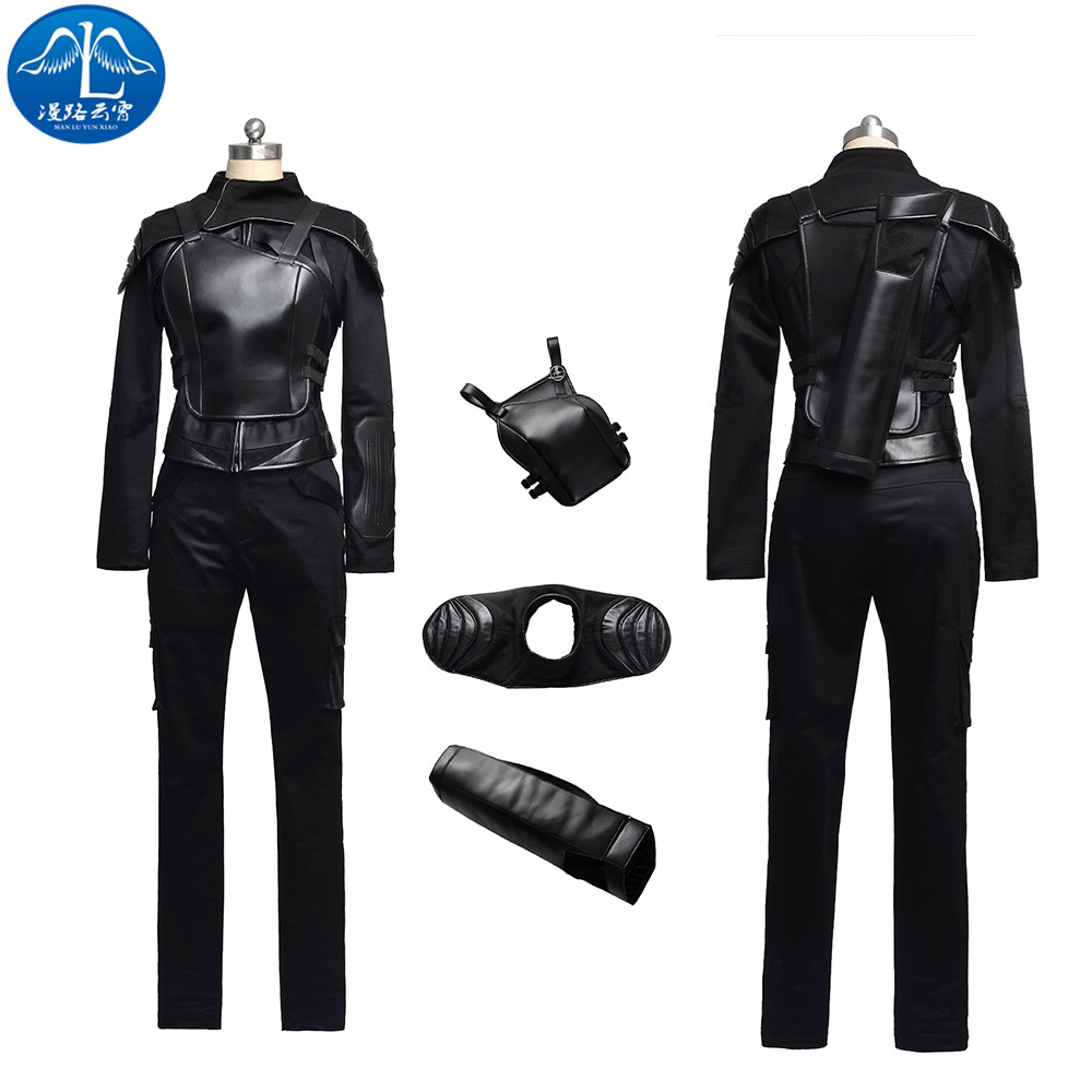 ManLuYunXiao 2017 Cosplay Costume Katniss Everdeen Roleplay The Hunger Games Cosplay Women's Leggings Custom Made Free Shipping