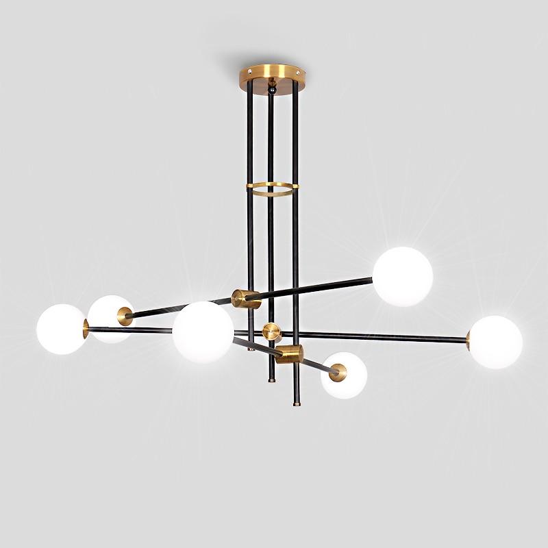 Modern Pendant Lights For Living Room Metal Geometric Line