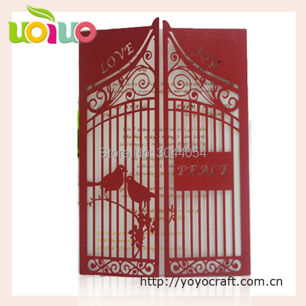 Us 49 72 15 Off 2017 Best Sell Free Name Initial Logo Bird Wedding Cards Laser Cut Personalize Indian Greeting Cards Simple Wedding Card Design In