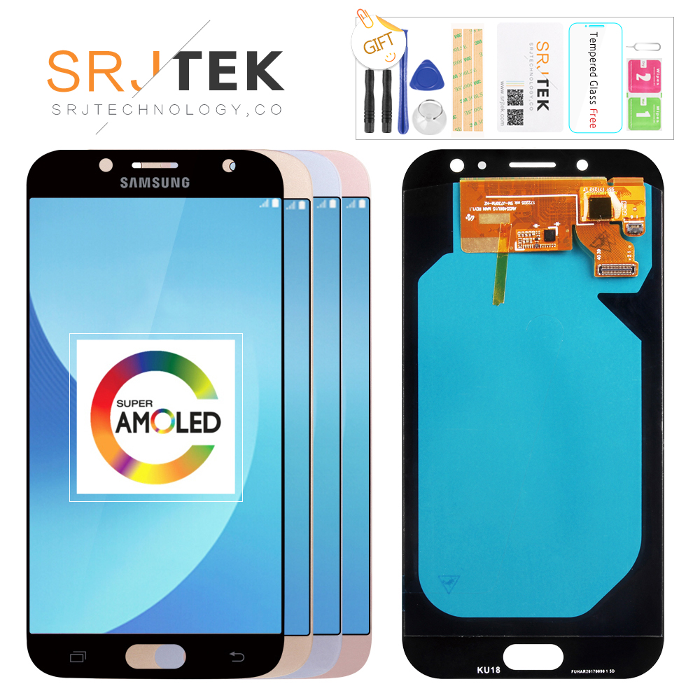 Original 5,5 ''AMOLED Display für SAMSUNG Galaxy J7 Pro J730 LCD Für SAMSUNG J7 2017 Display Touchscreen Digitizer j730F