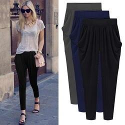 5XL 6XL 7XL 8XL плюс Размеры 2018 лето-осень женские плиссированные брюки Strechy Эластичные штаны-шаровары Pantalon Femmes Calca Feminina