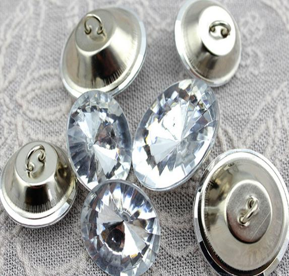 wholesale 18mm 500pcs lot Satellite drill soft package Acrylic sofa decorative buckle Rhinestones buttons Acrylic button