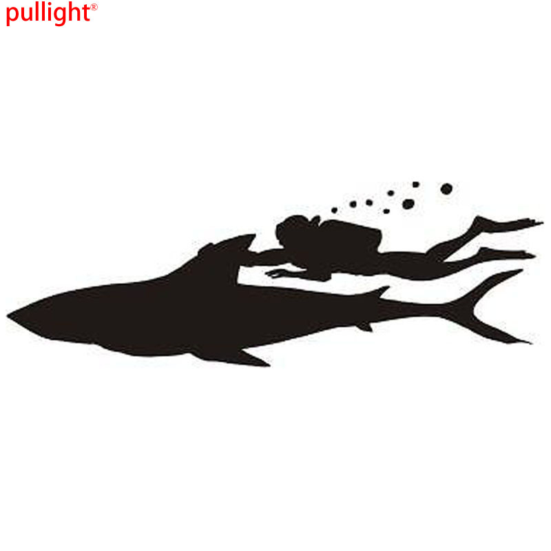 Hot Sell Fashion Diver Ocean Treasure Car Sticker Free Diving Modeling Vinyl Decals