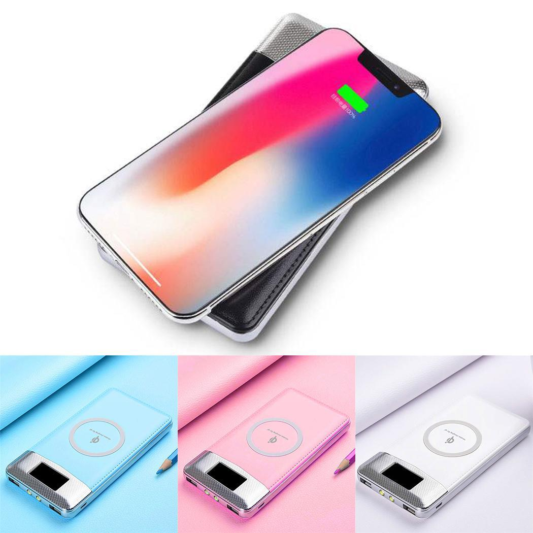 30000mAh Power Bank Wireless Phone Charger For iPhone Samsung Huawei Xiaomi Power Bank Powerbank Power Bank Portable