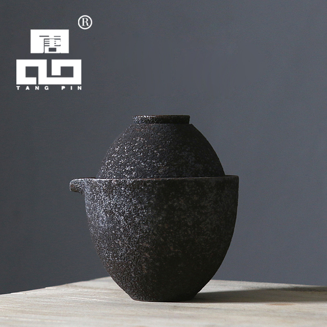 TANGPIN 2017 new arrival rust-glazed ceramic teapot kettle tea cup chinese kung fu tea set drinkware
