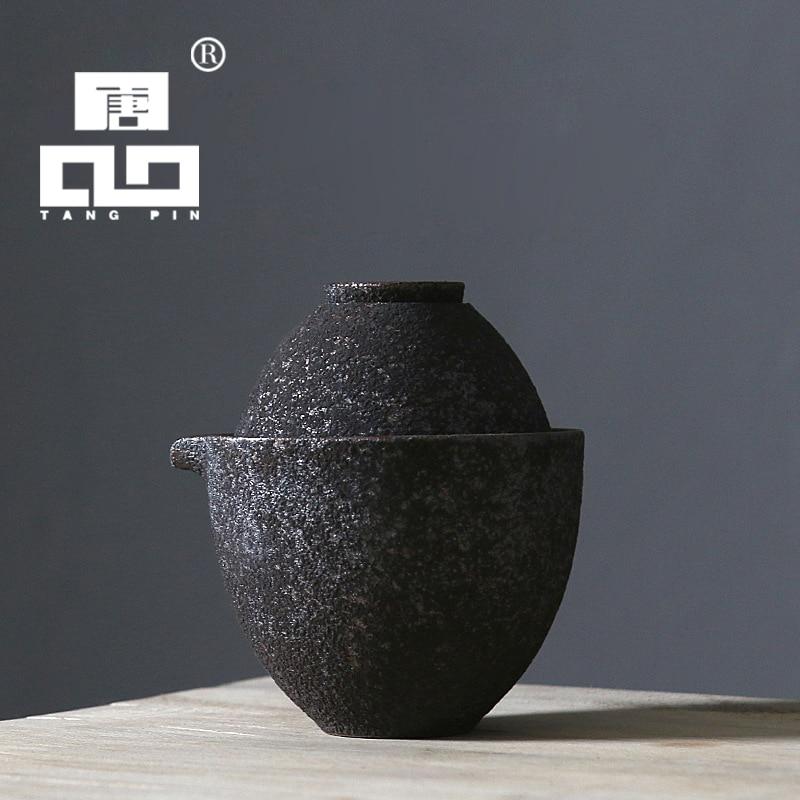 TANGPIN ժանգի փայլով կերամիկական թեյի թեյի դափնեկիր ճապոնական թեյի հավաքածու ըմպելիք